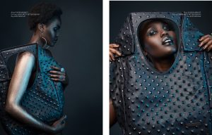 Kate Mensah leather handbag, Margarett Ritter Designs earrings, Foster Merritt rings